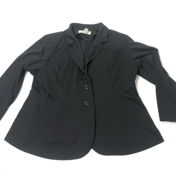 American Rag Jackets & Blazers - Women's Plus Size 3X Black Stretch Blazer Top